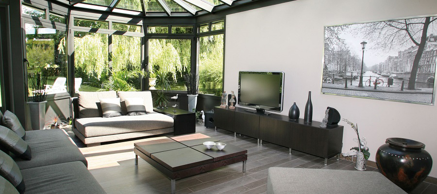 amenagement interieur d une veranda. Black Bedroom Furniture Sets. Home Design Ideas